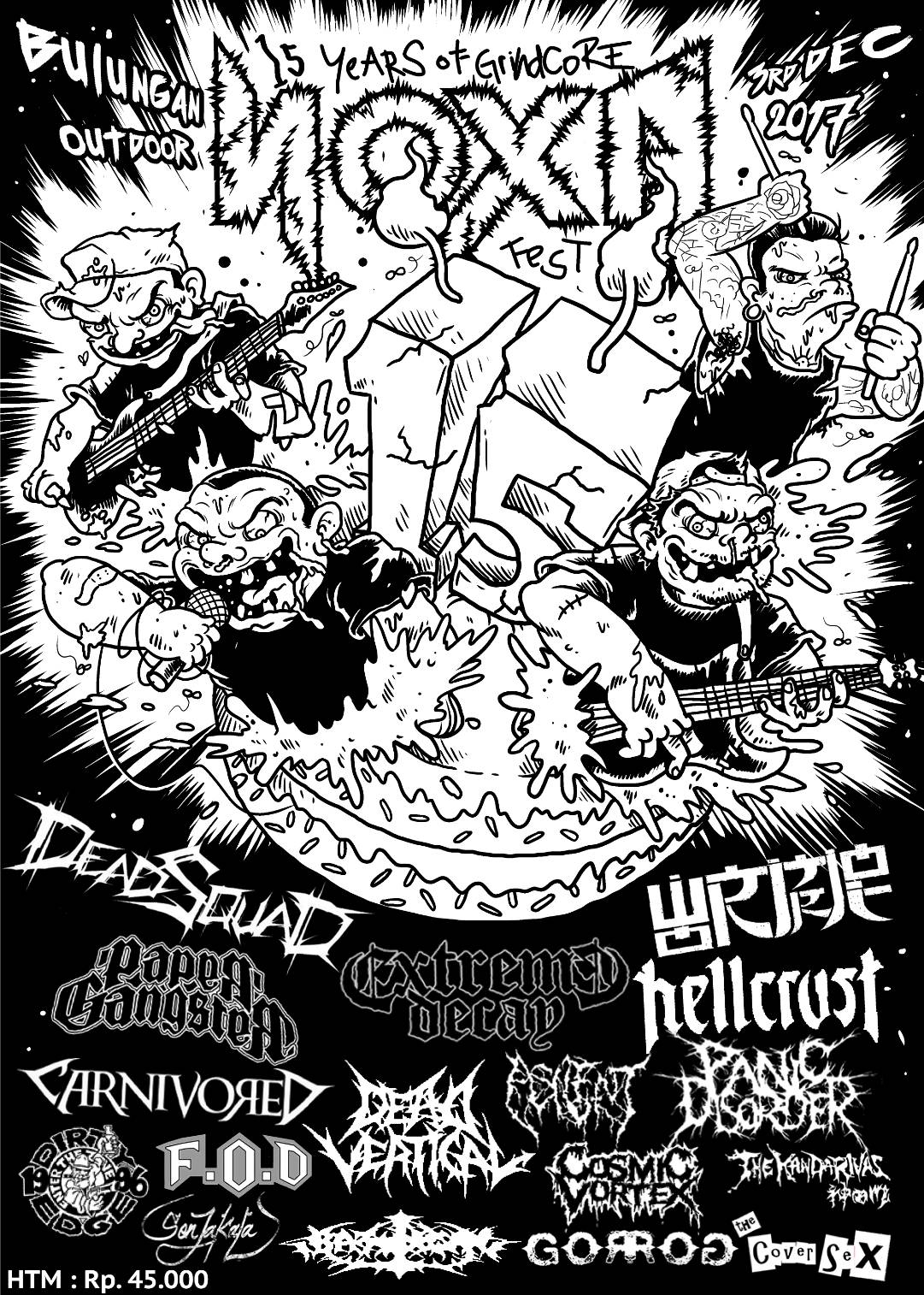 【NOXA FEST 15th Years of Grindcore】in Indonesia